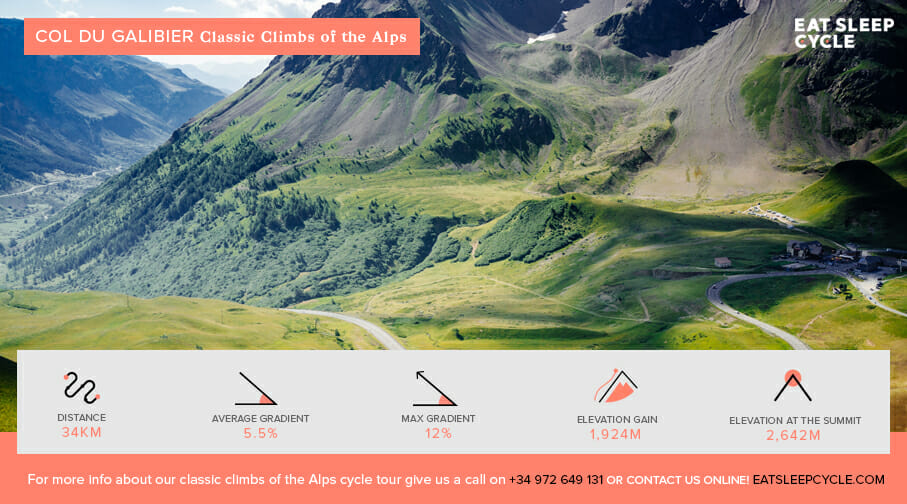 Classic Climbs of the Alps - Col du Galibier Alps - Cycling Tour