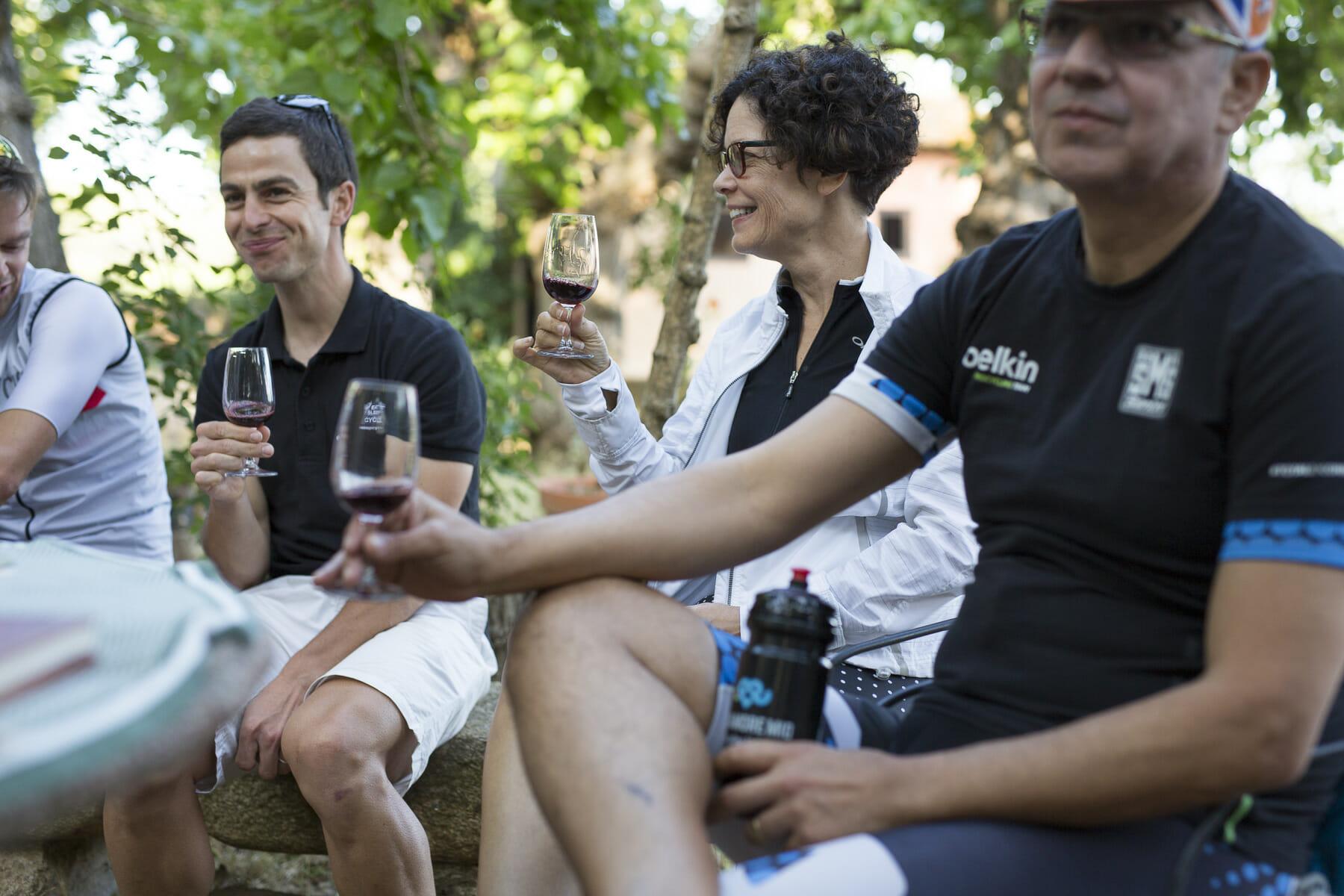cycling food wine