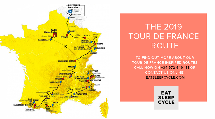The 2019 Tour de France Route
