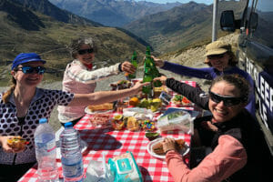 Womens Cycling Pyrenees Lunch