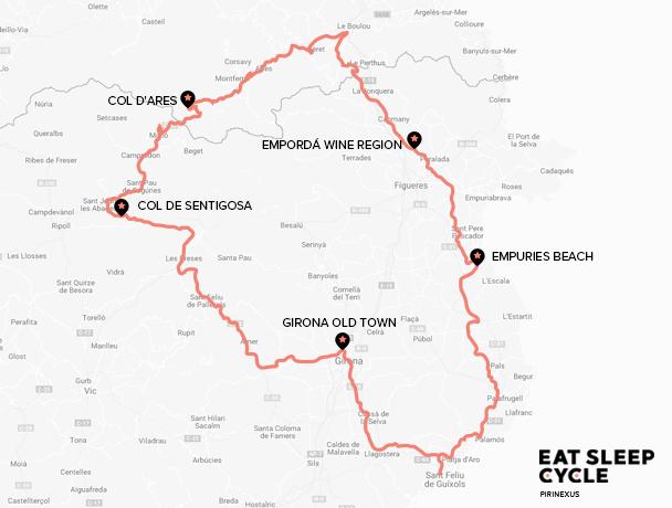 Map Pirinexus Cycle Tour
