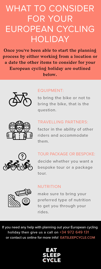 What To Consider for European Cycling Vacation - Eat Sleep Cycle