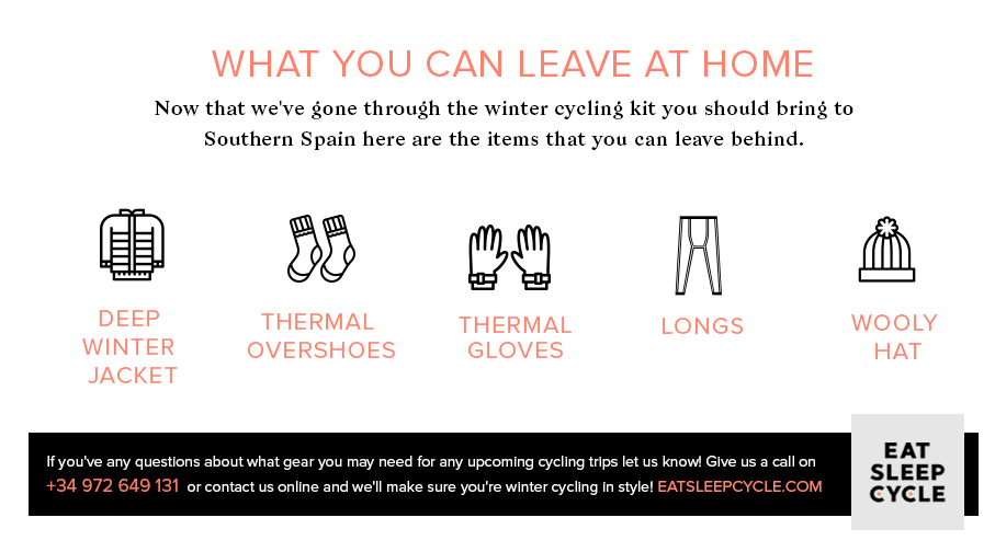 Winter Cycling Gear for Southern Spain - Eat Sleep Cycle
