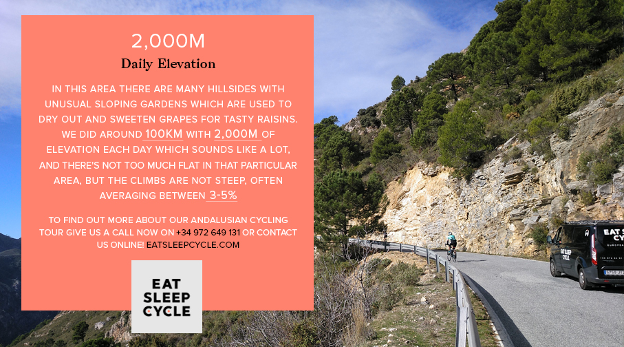 An Andalusian Cycling Tour - 2000m Daily Elevation