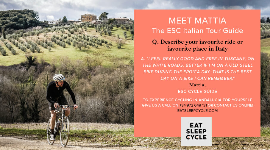 Mattia Bettagno - Eat Sleep Cycle Italian Tour Guide