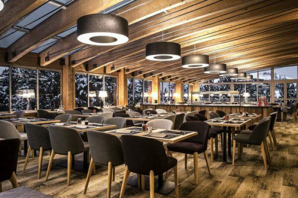 Hotel Pic Blanc Alpe Du Huez Breakfast Room-2