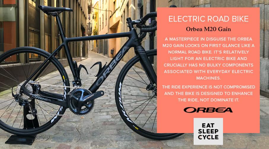 Electric Road Bike Orbea M20 Gain - Electric Bike Hire Girona