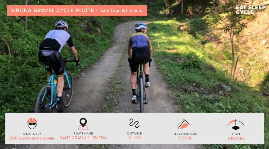 Gravel Cycling Route Girona - Sant Grau & Llemena