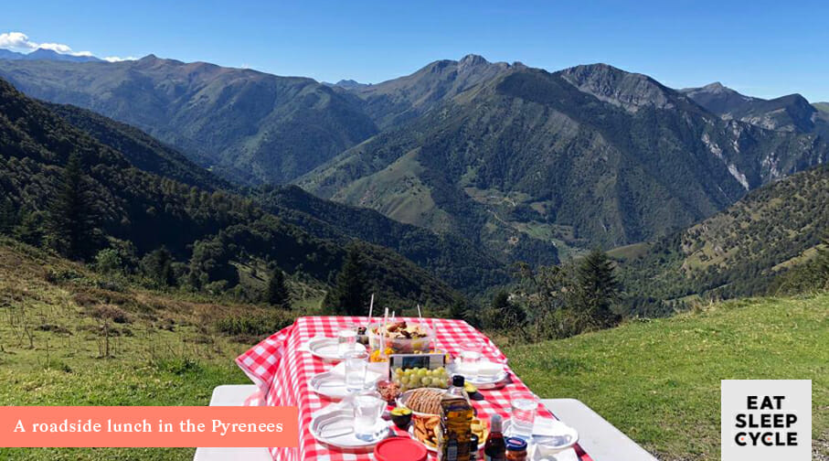 Nutrition for Cyclists - Cycling and Lunch Trans Pyrenees Challenge