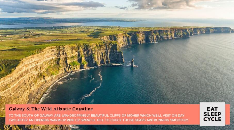Cycling Tour of Ireland's West Coast - Cliffs of Moher - Eat Sleep Cycle