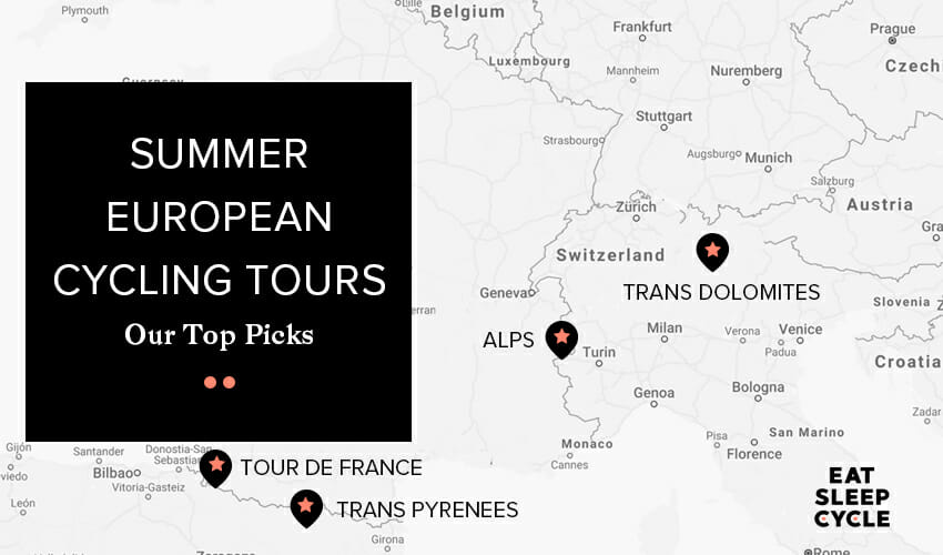 Summer European Cycling Tours - Top Destinations from Eat Sleep Cycle