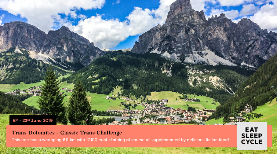 Summer European Cycling Tours - Trans Dolomites