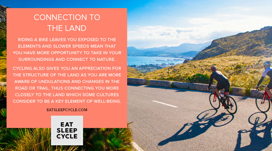Cycling & Well-Being - Connection to the Land