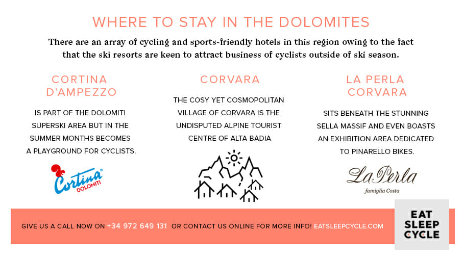 Cyclist's Guide to the Dolomites - Where to Stay in the Dolomites
