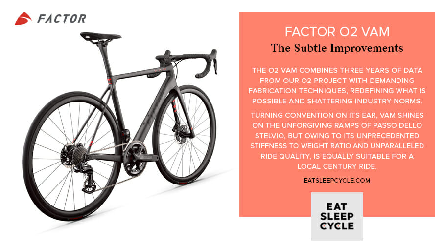 Factor O2 VAM Bike Preview - Bike Improvements