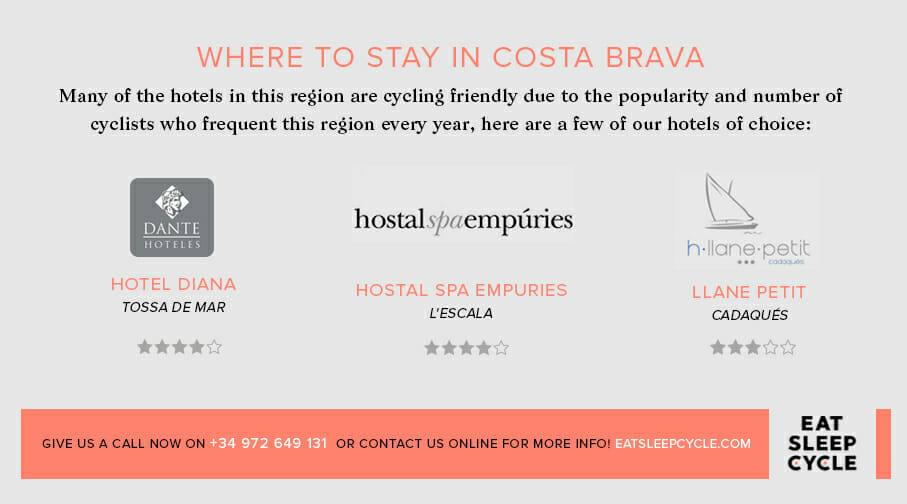 Costa Brava Cycling - Where to Stay in Costa Brava