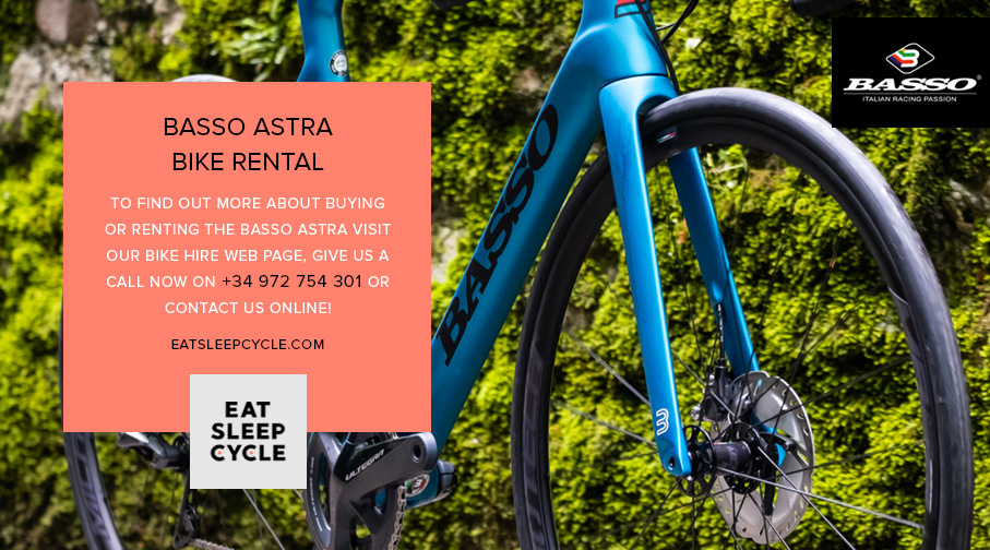 Basso Astra 2020 Bike Rental - Eat Sleep Cycle