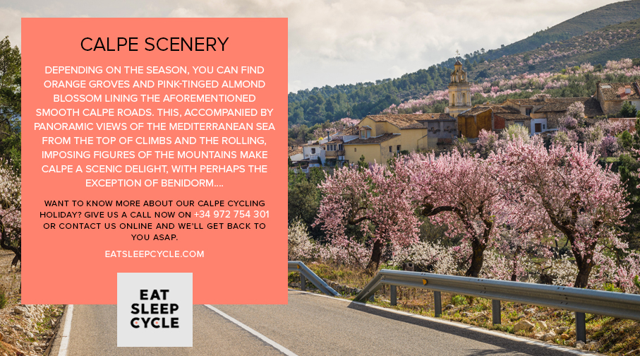 Calpe Winter Cycling Holiday - Calpe Scenery - Eat Sleep Cycle
