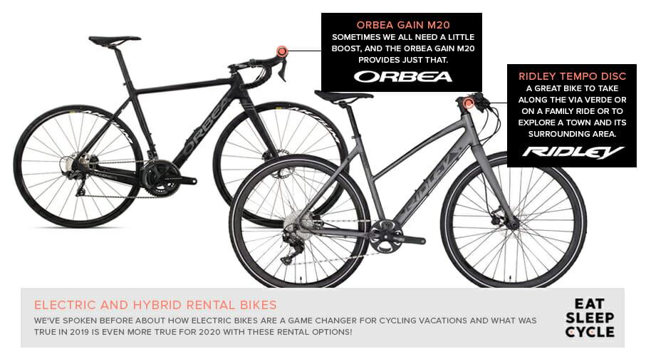 Electric Bike Rental - Orbea Bike Rental - Eat Sleep Cycle - Spain