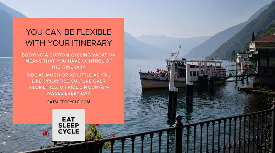 Custom Cycling Vacations Flexible Itinerary - Eat Sleep Cycle