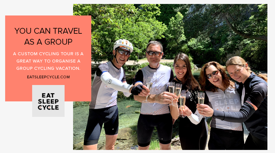 Custom Cycling Vacations for Groups - Eat Sleep Cycle
