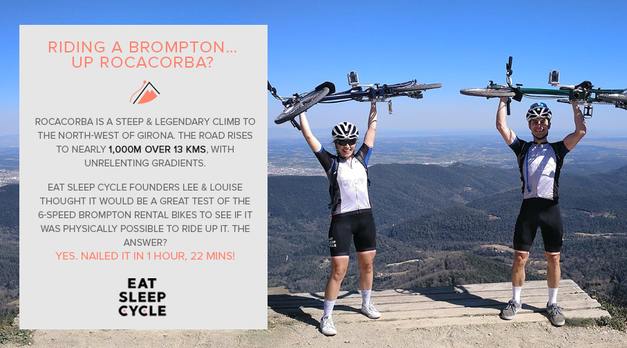 Riding a Brompton Bike - Rocacorba - Eat Sleep Cycle