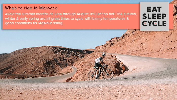 When to ride your cycling trip in Morocco