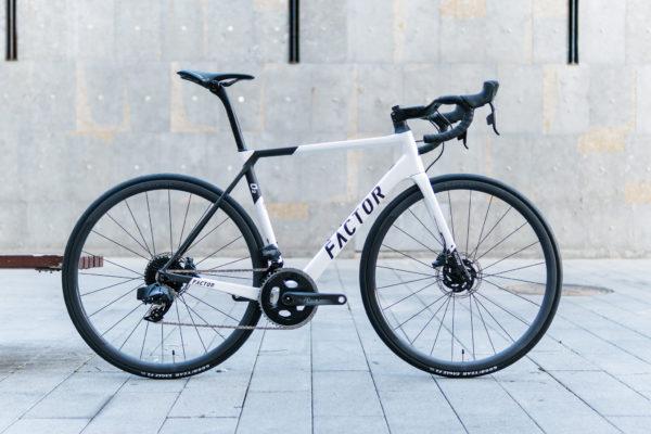 Factor O2 SRAM Force AXS Pearl White Eat Sleep Cycle-Bike-Hire